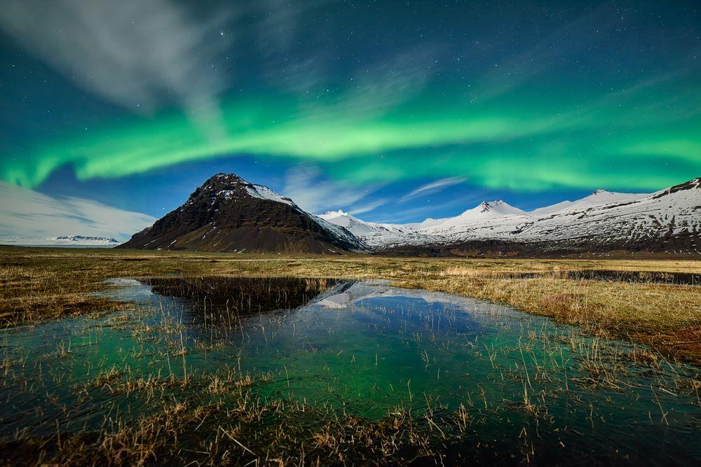Aurora boreal verdosa