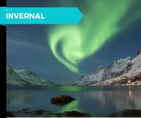 Paisaje aurora boreal en Tromso