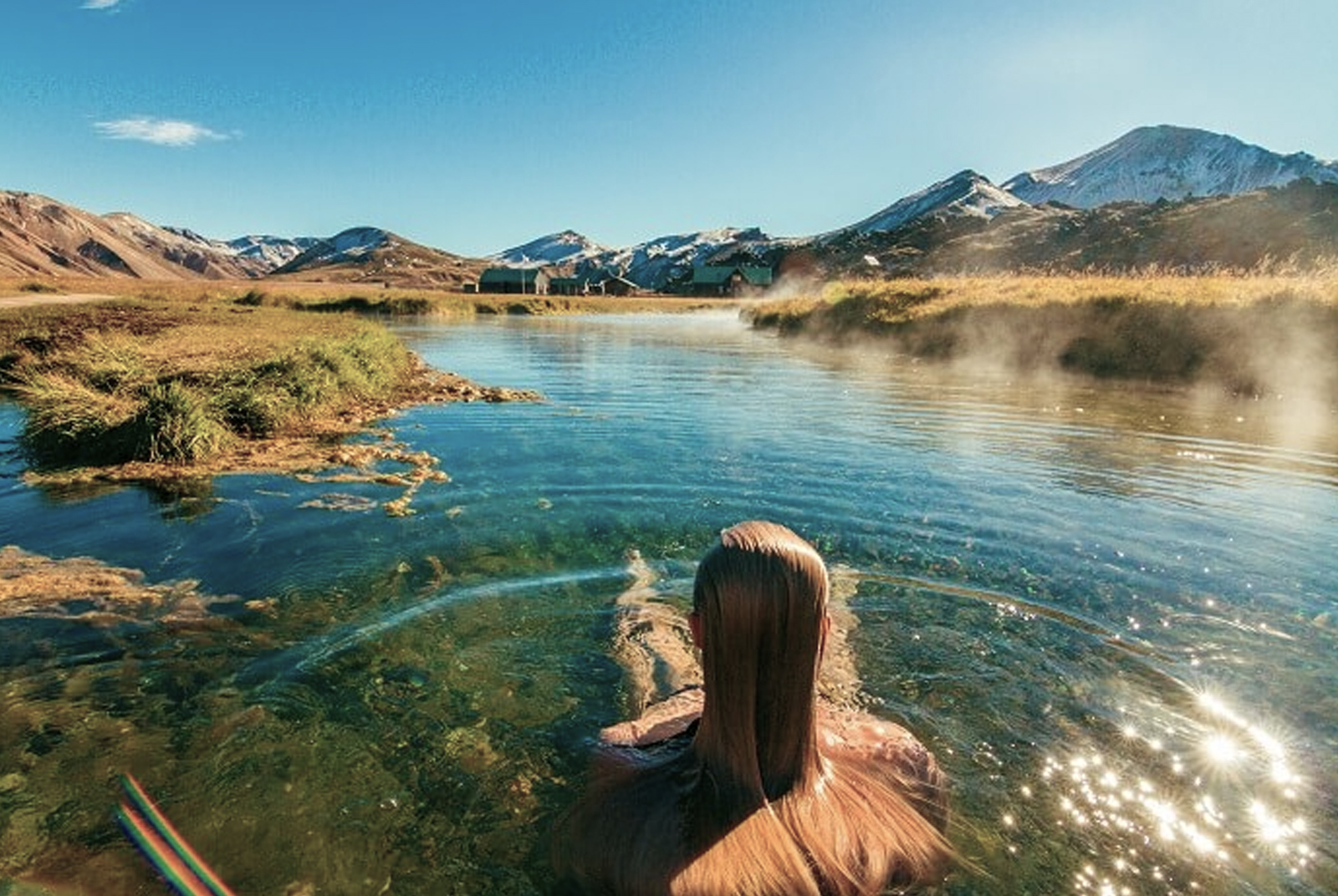 El trekking de Landmannalaugar es uno de los más famosos de Islandia, pero también lo son sus aguas termales.