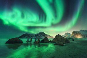 ver auroras boreales islandia noruega