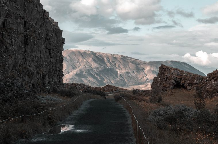 Paisaje de Almannagjá, Iceland