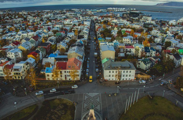 Imagen panorámica de Reikiavik