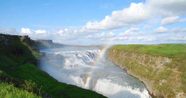 Cascada de Gullfoss en el Círculo de Oro