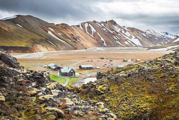 Viajar por Islandia de forma barata - Panorámica refugio