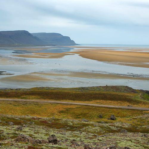 Playa fiordos del oeste Islandia