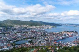 Vistas monte Fløyen Bergen