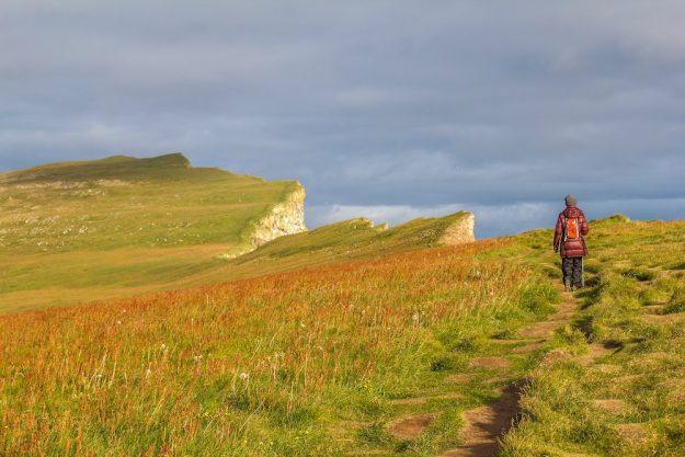 Acantilado fiordos del oeste Islandia