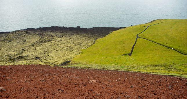 Volcán Eldfell Islandia