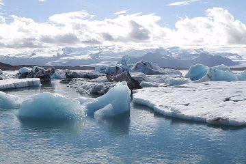 Laguna Jökulsárlón en Islandia