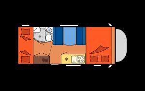 Distribución autocaravana FAMILY
