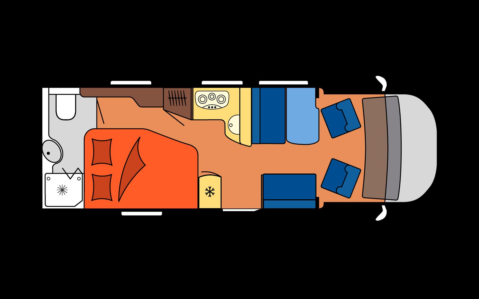 Distribución autocaravana SMALL