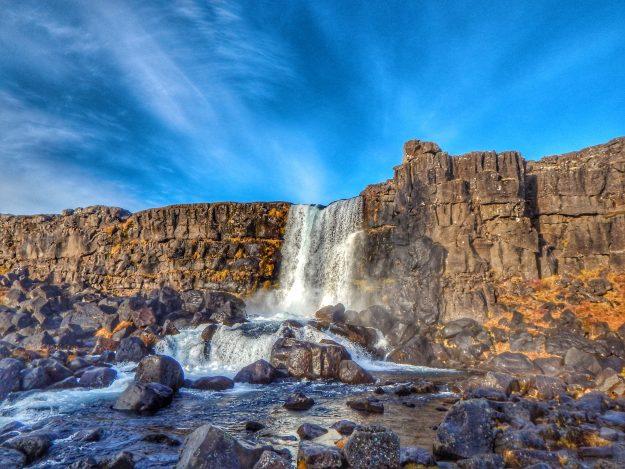 Cascada Thingvellir en Islandia
