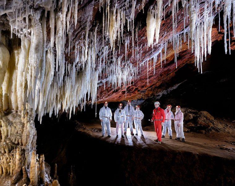 Formaciones de la cueva de El Soplao