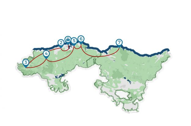Mapa viaje Cantábrico Salvaje