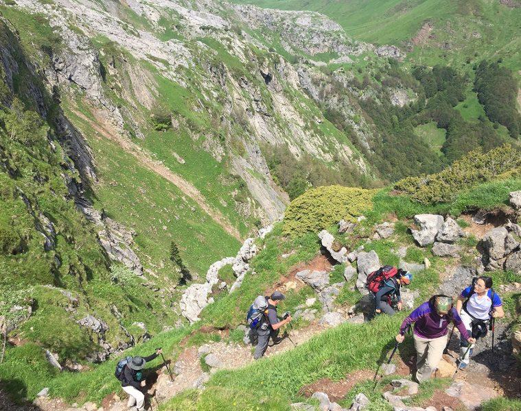 Senderistas Pirineos