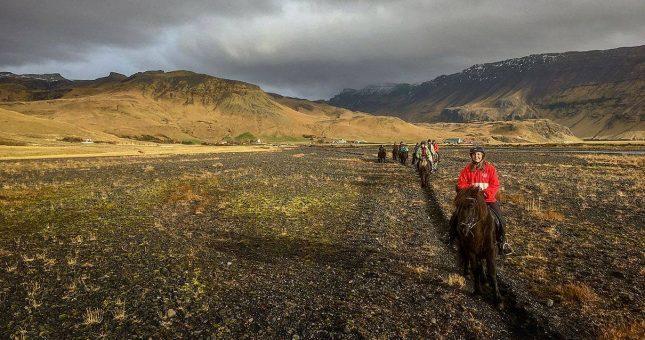 Excursión a caballo en el sur Islandia (Hvolsvöllur)