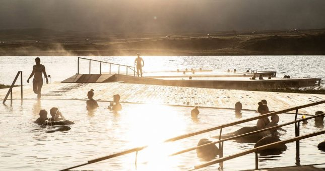 Baños geotermales Vök Baths - Islandia